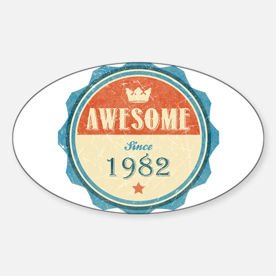 Awesome Since 1982 Oval Decal