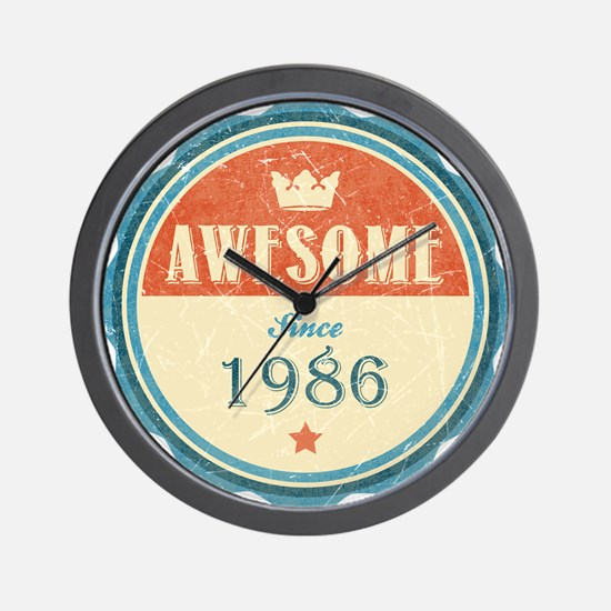 Awesome Since 1986 Wall Clock