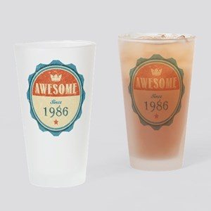 Awesome Since 1986 Drinking Glass