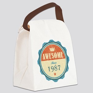 Awesome Since 1987 Canvas Lunch Bag