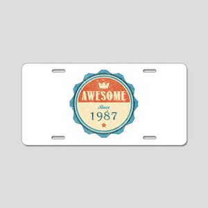 Awesome Since 1987 Aluminum License Plate