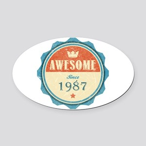 Awesome Since 1987 Oval Car Magnet