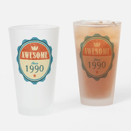 Awesome Since 1990 Drinking Glass