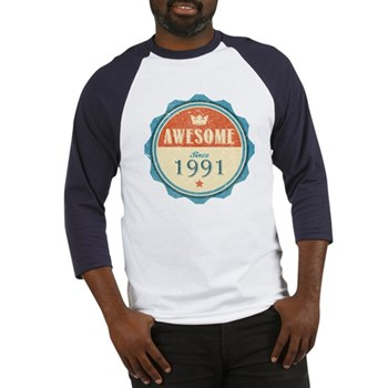 Awesome Since 1991 Baseball Jersey