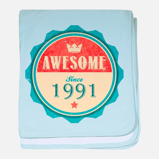 Awesome Since 1991 Infant Blanket