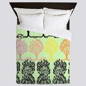Spring Colors - Beardsley's Trees Queen Duvet