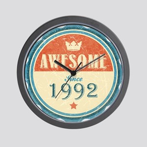 Awesome Since 1992 Wall Clock