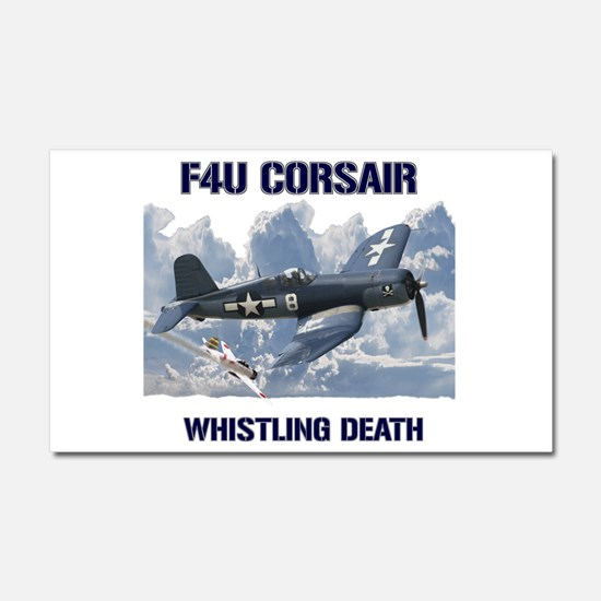F4U Corsair Whistling Death Car Magnet 20 x 12