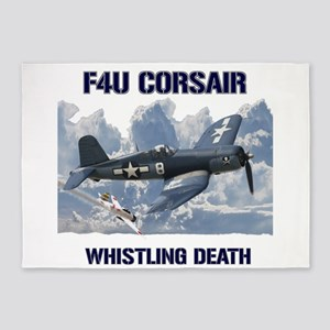 F4U Corsair Whistling Death 5'x7'Area Rug