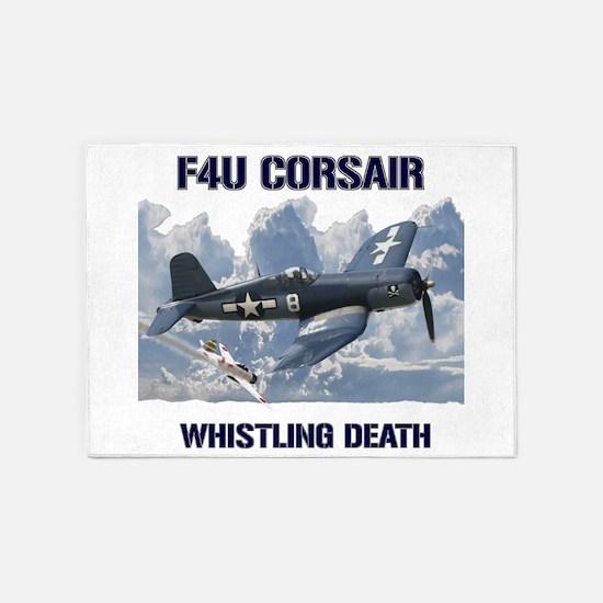 F4U Corsair Whistling Death 5'x7'Area Rug
