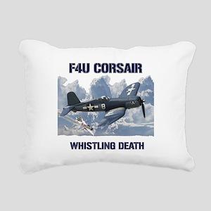 F4U Corsair Whistling Death Rectangular Canvas Pil