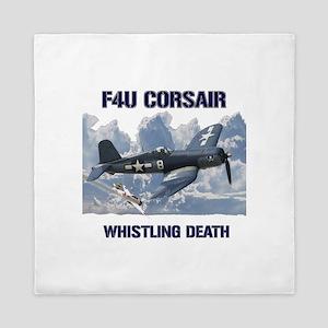 F4U Corsair Whistling Death Queen Duvet