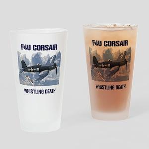 F4U Corsair Whistling Death Drinking Glass
