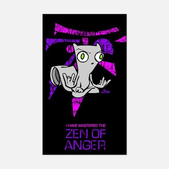 Zen Of Anger Rectangle Decal