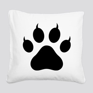 Tiger's Paw Silhouette  Square Canvas Pillow