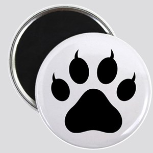 Tiger's Paw Silhouette  Magnet