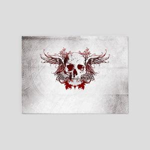 Dark Red Skull 5'x7'Area Rug