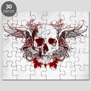 Dark Red Skull Puzzle