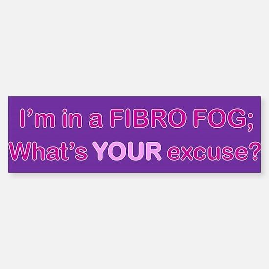 Fibro Fog Bumper Bumper Bumper Sticker
