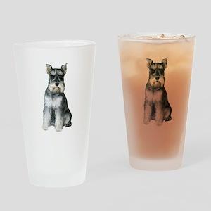 Schnauzer (gp2) Drinking Glass
