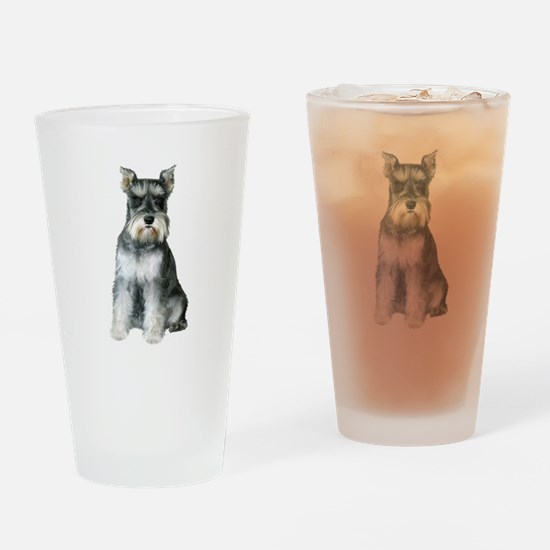 Schnauzer (gp2) Drinking Glass