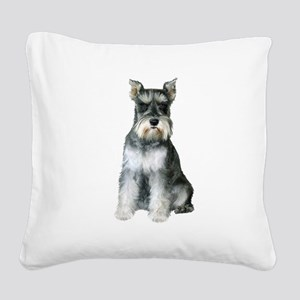 Schnauzer (gp2) Square Canvas Pillow