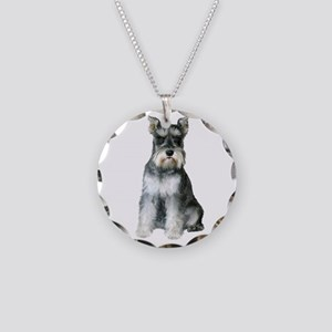 Schnauzer (gp2) Necklace Circle Charm