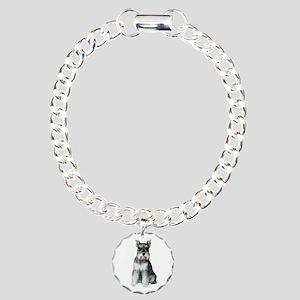 Schnauzer (gp2) Charm Bracelet, One Charm