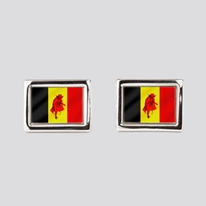 Belgian Red Devils Rectangular Cufflinks