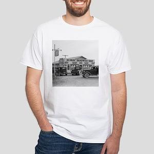 Hi-Way Sandwich Shop, 1939 White T-Shirt