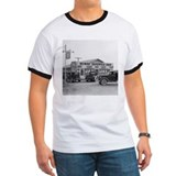 Texas roadhouse white Ringer T-shirts