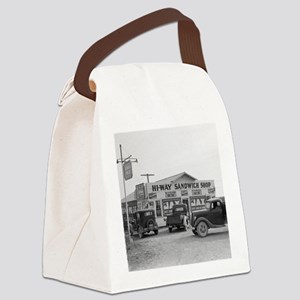 Hi-Way Sandwich Shop, 1939 Canvas Lunch Bag