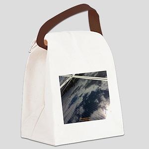 Solar Panel W Cloud Canvas Lunch Bag