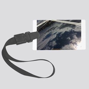 Solar Panel w Cloud Large Luggage Tag