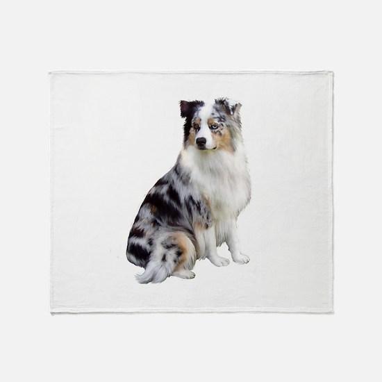 Australian Shep (gp1) Throw Blanket