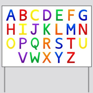 Colorful Alphabets  Yard Sign