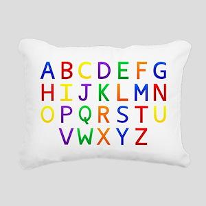 Colorful Alphabets  Rectangular Canvas Pillow