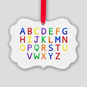 Colorful Alphabets  Picture Ornament