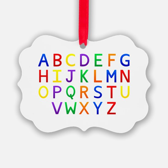 Colorful Alphabets  Ornament