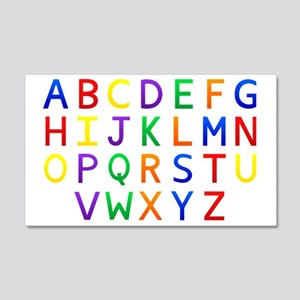 Colorful Alphabets  20x12 Wall Decal