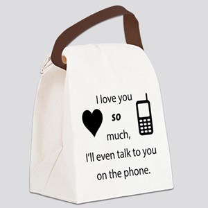 Introvert Love Canvas Lunch Bag