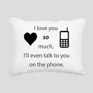 Introvert Love Rectangular Canvas Pillow