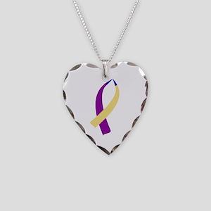 Awareness Ribbon (Bladder Cancer) Necklace