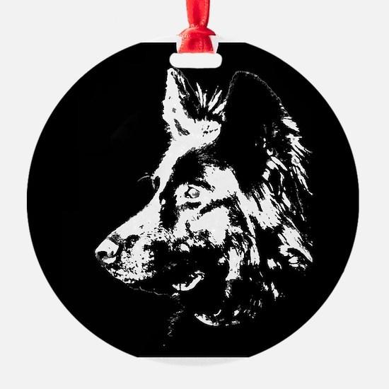 b/w silouette Ornament