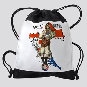 Croatia Culture Drawstring Bag