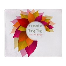 Boy Toy for Her Throw Blanket