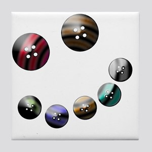 Those crazy Button Eyes Tile Coaster