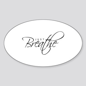 Just Breathe - Oval Sticker