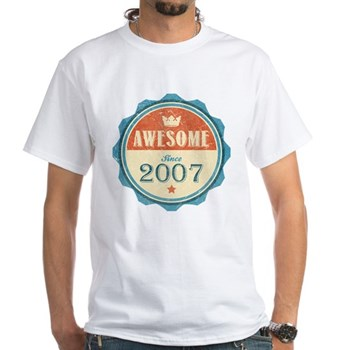 Awesome Since 2007 White T-Shirt