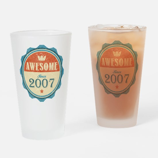 Awesome Since 2007 Drinking Glass